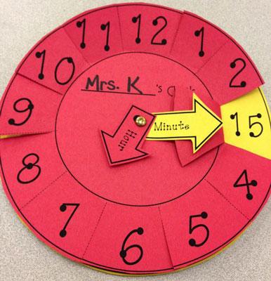 عکس ساخت کاردستی ساعت برای کلاس اول