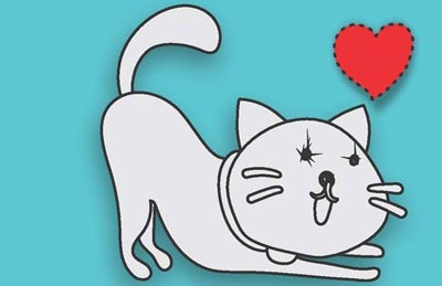 عکس نقاشی گربه کوچولو