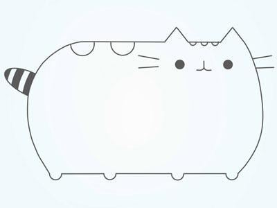 عکس نقاشی گربه فانتزی