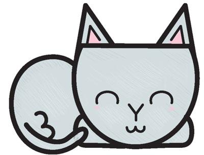 عکس نقاشی گربه با اشکال هندسی