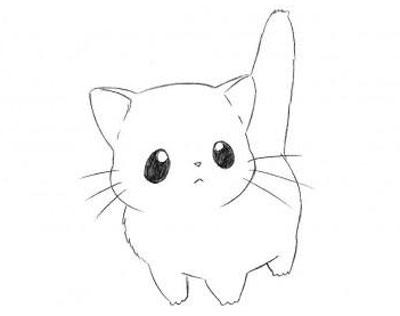 عکس نقاشی گربه آسان