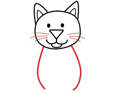 عکس آموزش نقاشی گربه ساده