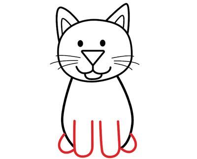 عکس آموزش نقاشی گربه فانتزی