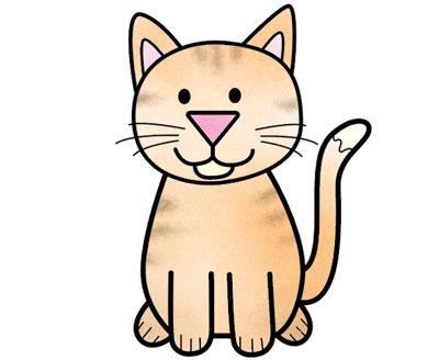 عکس آموزش نقاشی گربه برای کودکان