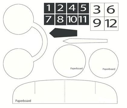 عکس الگوی ساخت کاردستی ساعت
