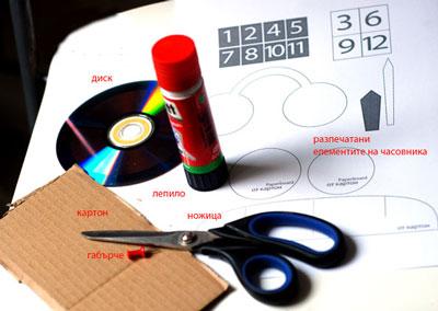 عکس وسایل لازم برای ساخت کاردستی ساعت