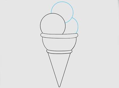 آموزش نقاشی بستنی کودکانه
