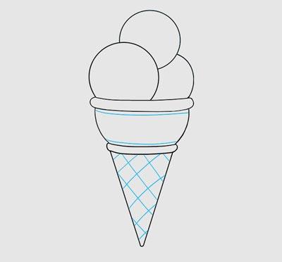 آموزش نقاشی بستنی بامزه